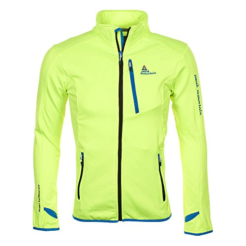 Peak Mountain - chaqueta polar shell hombre CLIMATE - amarillo - XL