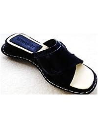 Wrangler - Zapatillas de estar por casa de Piel para mujer Negro Pinkish
