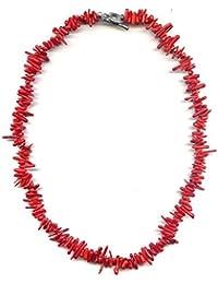 Halskette 45 cm aus roten Korallen