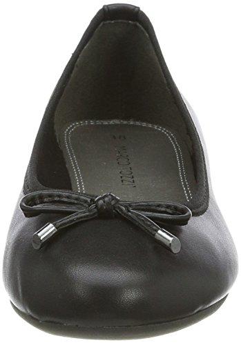 Marco Tozzi Damen 22137 Geschlossene Ballerinas Schwarz (Black Antic)