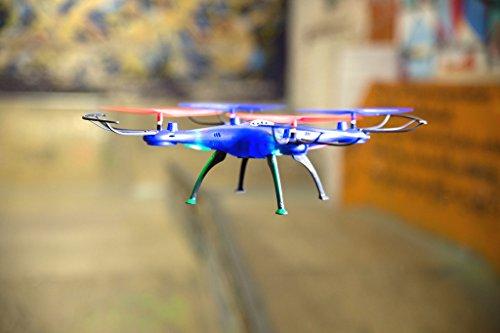 Revell Control RC Quadrocopter für Einsteiger, ferngesteuert mit 2,4 GHz Fernsteuerung, sehr einfach zu fliegen, Headless-Mode, äußerst robust, wechselbarer Akku, LED-Licht, Flip-Funktion - GO! 23877 - 6