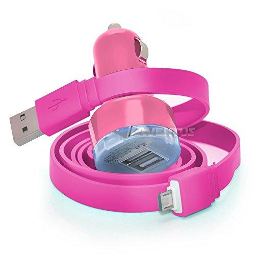 Aventus EE Eagle Baby Pink Twin-Port USB-Minigewehrkugel in KFZ-Ladegerät Einschließlich 1 Micro-USB-Datenübertragung/Ladekabel - Zubehör Eagle Baby