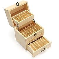 Ätherische Öle Box Essential Oil Organizer aus Holz 3 Stufen 59 Fächer für 5-15ml Ätherische Öle Flaschen 215mm... preisvergleich bei billige-tabletten.eu