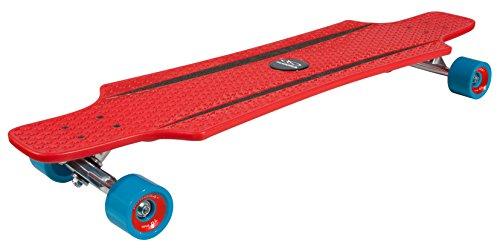 HUDORA ABEC 7 Longboard Cruise Star, Skateboard, rot