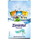 Ziminta Sugar Free Mint Mouth Freshener Easily Soluble Digestive Dispensable Strip - 30 Strips (Mint Flavour, Blue) - Pack of 10