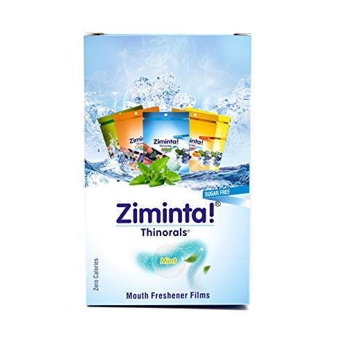 Ziminta Sugar Free Mint Mouth Freshener Easily Soluble Digestive Dispensable Strip (30 Strips, Mint Flavour) - Pack of 10