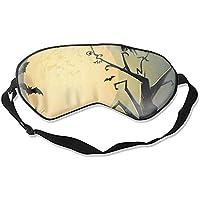 Schlafmaske, Halloween-Nacht, Seide, leicht, atmungsaktiv, bequem, weich, mit verstellbaren Kopfgurten für Frauen preisvergleich bei billige-tabletten.eu