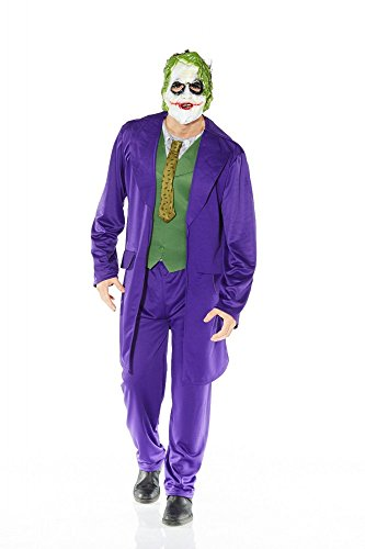 Herren-Kostüm JOKER Batman - The Dark Knight, (Dark Kostüm Joker Knight The)