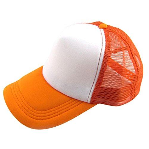 Fuibo Kappe für Herren und Damen, Unisex Casual Hut Solide Baseballmütze Trucker Mesh Blank Visier Hut Einstellbar| Basecap, Baseball Cap, verstellbar (E) (Baumwoll-baseball-jersey Solide)