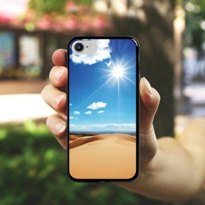 Apple iPhone X Silikon Hülle Case Schutzhülle Wüste Sand Sonne Hard Case schwarz
