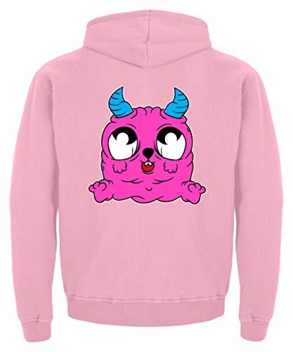 s Monster für Babys und Kinder süßes Ungeheuer Babygewand Strampler Taufe Geschenkidee - Kinder Hoodie -3/4 (98/104)-Baby Pink ()