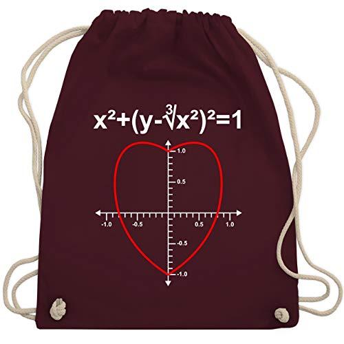 Namen Kostüm Marken - Valentinstag - Mathe Herz - Unisize - Bordeauxrot - WM110 - Turnbeutel & Gym Bag