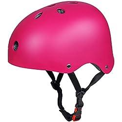 CoastaCloud - Casco De Ciclismo Unisex Para Bicicleta Esquí Patinaje Deportes Al Aire Libre Rosa M