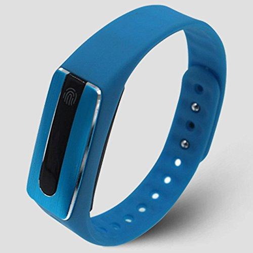 Peibo SW369HB02cardiofrequenzimetro Bluetooth Smart Touch braccialetto fitness Wristband New, Blue