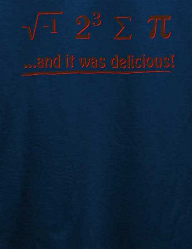 It Was Delecious T-Shirt Navy Blau