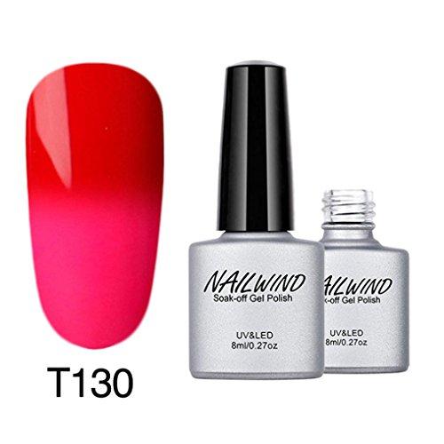 kalorywee Soak-Off-Gel-Nagellack, Farbe mit Farbwechsel-Lack UV-LED-Maniküre, 8ml Nail Art Dekoration