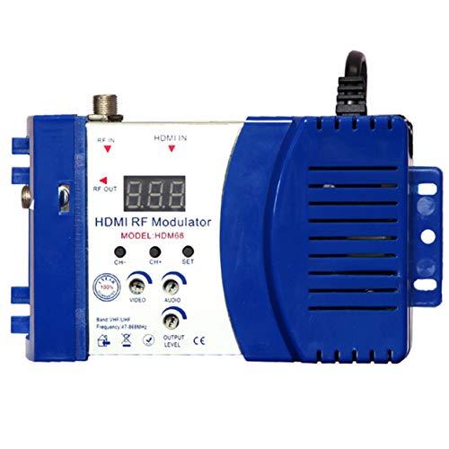 Tellaboull Modulatore HDM68 Modulatore RF Digitale HDMI Convertitore da AV a RF Modulatore Portatile VHF UHF Pal/NTSC Standard