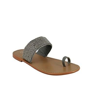 Calank Tongs / Sandales  Jeanne Noir - Chaussures Sandale Femme
