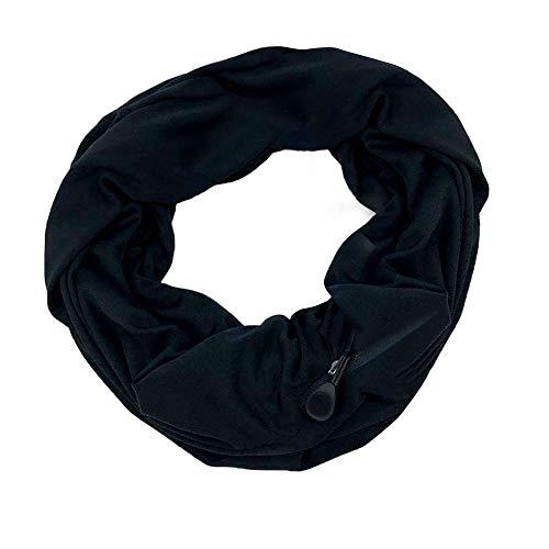 Lenfesh Bufanda Mujer Bolsillo Fulares bolsillo oculto