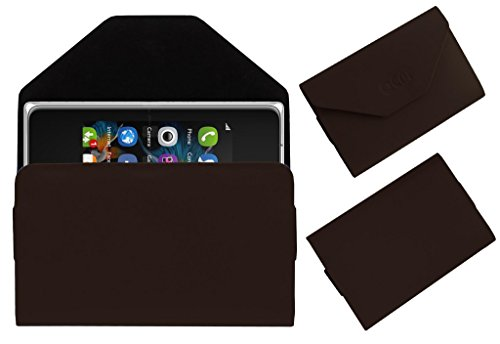 Acm Premium Pouch Case For Nokia Asha 500 Flip Flap Cover Holder Brown  available at amazon for Rs.359