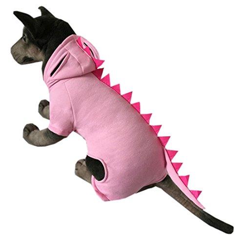 QIYUN.Z Hund Welpen Haustier Liefert Dinosaurier Hoodies Kostüm Outfit Coat Warme (Outfit Spanisch)