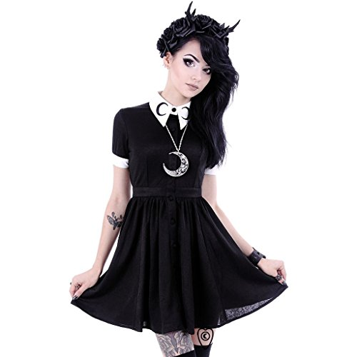 Restyle - MOON DRESS - Kleid für Frauen / Mode, Goth, Mond (Small) (Goth Fashion)