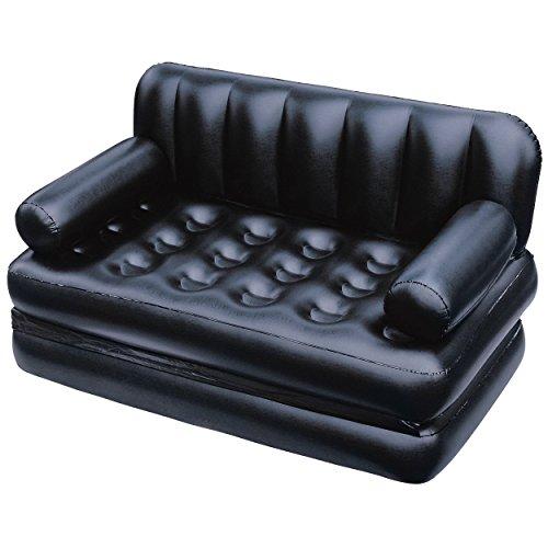 Bestaway 5 in 1 Inflatable Sofa Cum Queen Size Bed (Black)