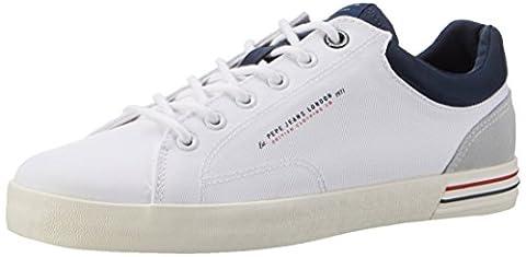 Pepe Jeans London Herren North Nylon Sneakers, Weiß (White), 44