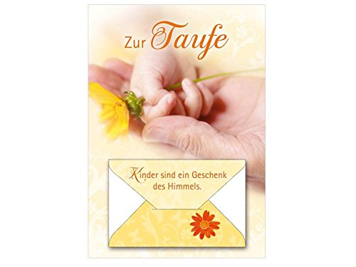 Taufkarte Glückwunschkarte Geldkarte Kinder sind ein Geschenk des Himmels