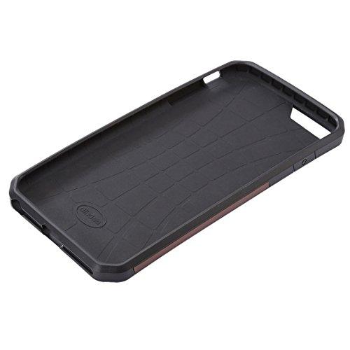 Wkae Case & Cover Pour iPhone 6 Plus & 6s plus étui de protection TPU Jeans en cuir avec fente pour carte ( Color : Black ) Black