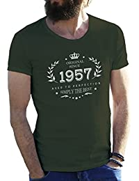Birthday Original Since 1957 Aged To Perfection Sixty Years Camiseta para hombre