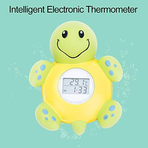 XQxiqi689sy Haustier Cartoon Schildkröte Digitaldisplay Elektronisches Baby Dusche Bad Wasser Thermometer Einheitsgröße einfarbig - Uhr Lcd Dusche