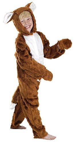 Fantastic Kostüm Mädchen 4 - Jungen Mädchen Kinder Kinder Fantastic Mr Fox Einteiler Buch Woche Tier Kostüm Kleid Outfit - Braun, 4-6 Years (116cms)