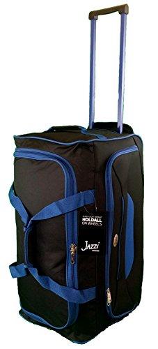 mittlere-grosse-62cm-65-liter-reisetasche-mit-2-rollen-schwarz-mit-blau-ordnung-gepack-sporttasche-t
