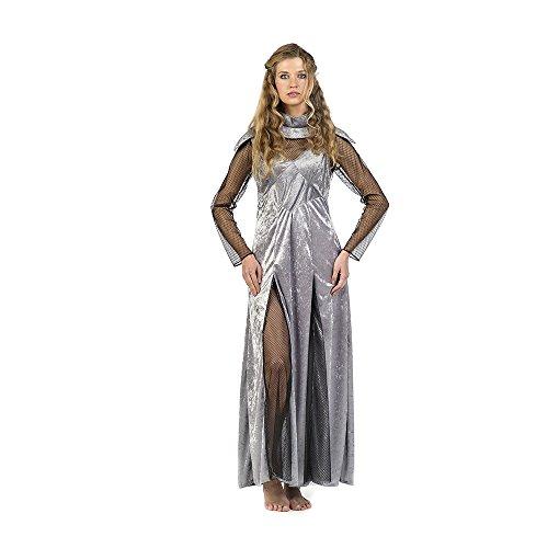 Prinzessin Damen Kostüm in Samtoptik mit Netzeinsatz 2-tlg. silber - (Renaissance Womens Prinzessin Kostüme)