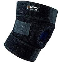 EMPO Attelle de Genou Support Course Jogging Exercice Ajustable Unisexe Velcro