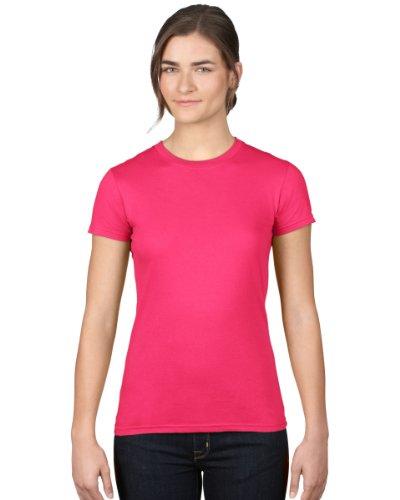 Anvil Damen T-Shirt tailliert / 379 L/XL,Rosa - Hot Pink