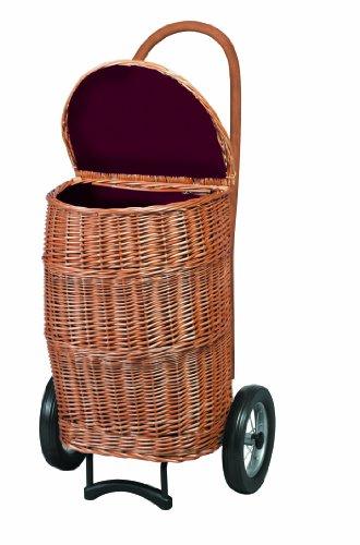 Andersen Kinderwagen-Markt Korb Shopper Natura XXL mit Stoff 2Rollen 77L cremefarben