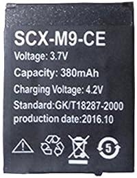 OCTelect Reloj inteligente batería SCX-M9-CE batería de litio recargable con capacidad 380MAH