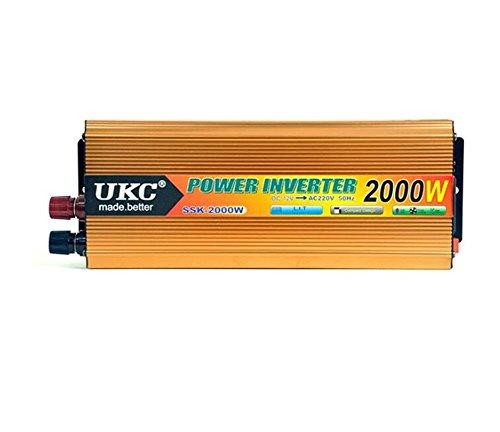 KDLD Convertisseur ® DC 12V d'inverseur de puissance de voiture 2000W à AC220-230V avec 4.2A ports d'USB pour l'ordinateur portable, les comprimés et les téléphones