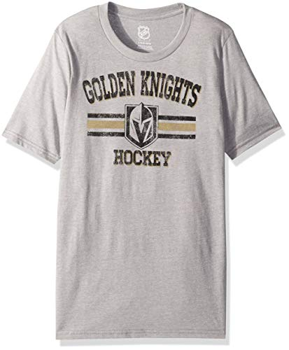 Blend Short Sleeve Top (NHL by Outerstuff NHL Las Vegas Golden Knights Youth Boys Core Short Sleeve Tri-Blend Tee, Heather Grey, Youth X-Large(18))