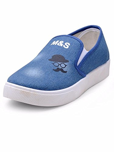 Nell Women BLUE Printed & Striped Slip-On ( Size-38)
