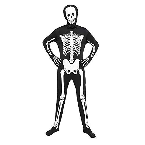 EraSpooky Halloween Leuchtendes Skelett Bodysuit Herren Karneval Fasching Verkleidung Kostüm