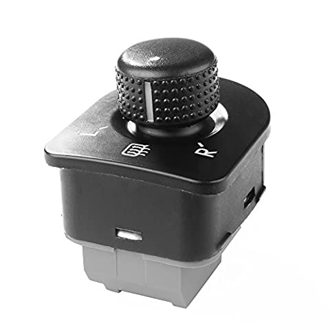 XCSOURCE Side Mirror Switch Control Knob with Heat for Volkswagen VW Golf GTI/R32, Passat B5/B5.5, Beetle, Jetta MK4