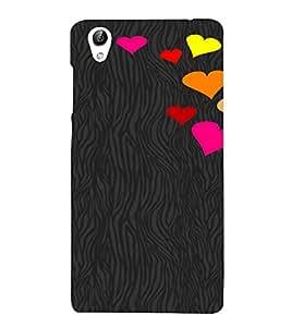 PrintVisa Love Hearts Design 3D Hard Polycarbonate Designer Back Case Cover for VivoY51L