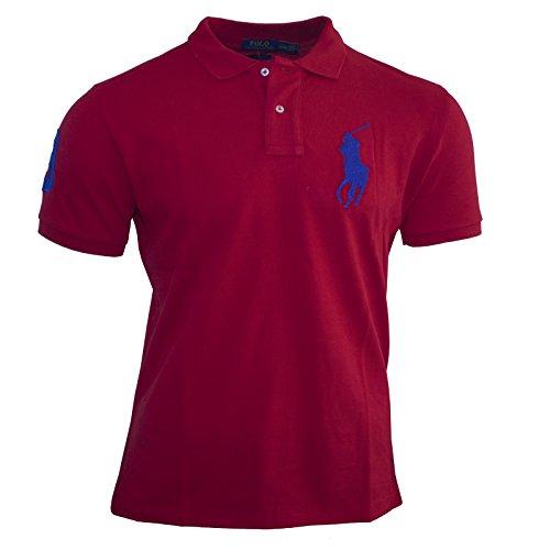 Polo Ralph Lauren Herren Poloshirt Custom Fit Größe S-XXL Big Pony - Rot