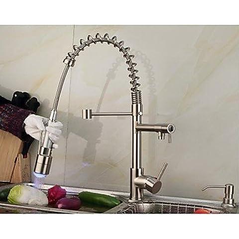 Cucina Rubinetti lavello rubinetto retro finitura rame antico due fori doppi manici parete lavello rubinetto rubinetto miscelatore