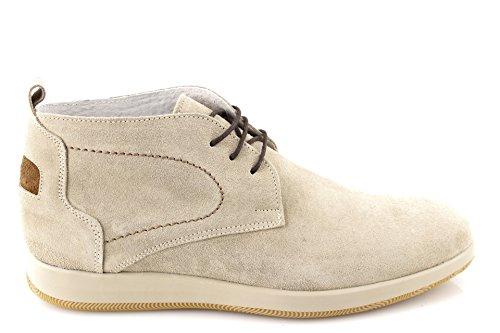 Damalu scarpe uomo stringate polacchine estive polacchini pelle scamosciata camoscio made italy 44