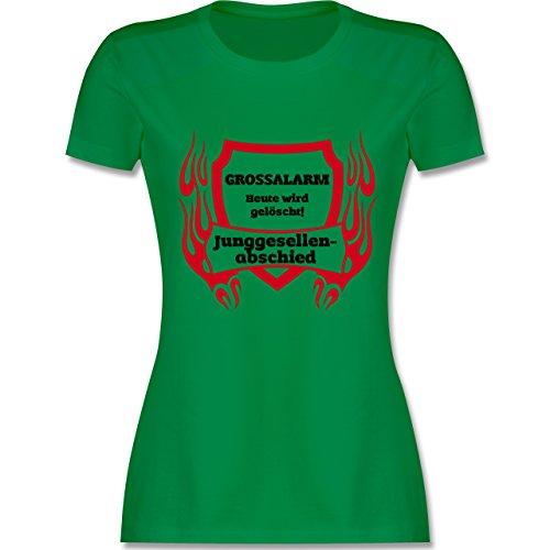 Feuerwehr - Grossalarm - tailliertes Premium T-Shirt mit Rundhalsausschnitt für Damen Grün