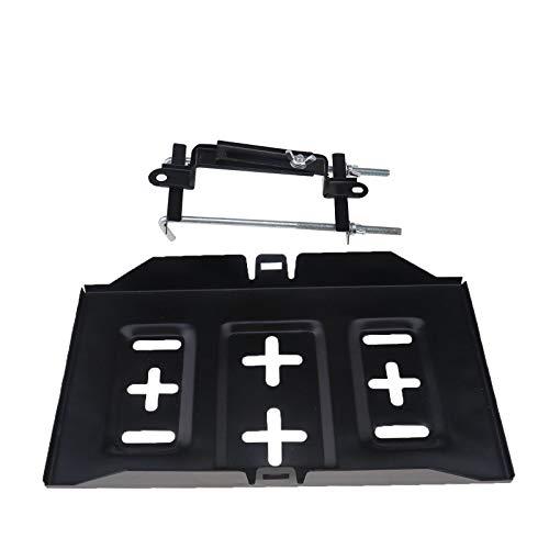 Schwarze Kleines Auto Batteriefach 34.5 * 19.3cm+ Niederhalter Halterungssatz